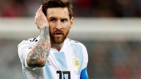 Soccer Football - World Cup - Group D - Argentina vs Croatia - Nizhny Novgorod Stadium, Nizhny Novgorod, Russia - June 21, 2018 Argentina's Lionel Messi looks dejected after the match - Sputnik Italia