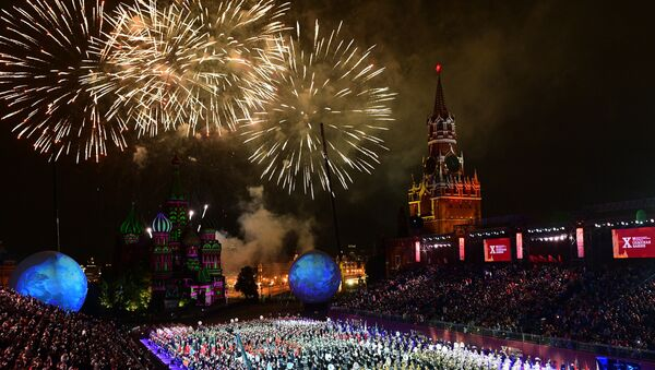 Una fotografia della cerimonia di chiusura del festival Spasskaya Bashnya 2017 - Sputnik Italia