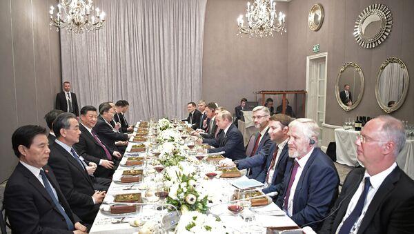 Il presidente russo Vladimir Putin al 10o summit dei BRICS in Sudafrica - Sputnik Italia