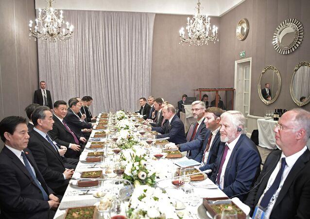 Il presidente russo Vladimir Putin al 10o summit dei BRICS in Sudafrica