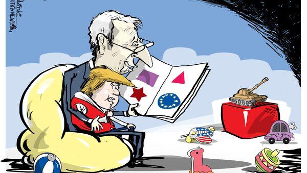 Papà Juncker e piccolo Trump - Sputnik Italia