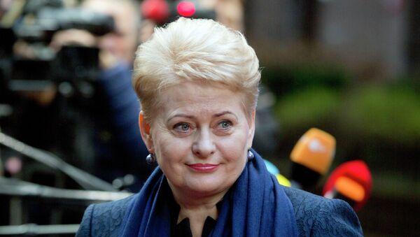 Presidente lituana Dalia Grybauskaitè al summit UE a Bruxelles - Sputnik Italia