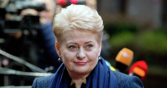 Presidente lituana Dalia Grybauskaitè al summit UE a Bruxelles