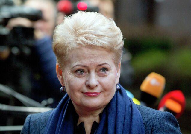 Presidente lituana Dalia Grybauskaitè