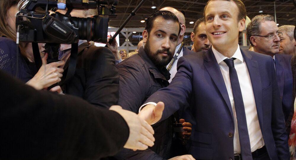 Emmanuel Macron e  Alexandre Benalla