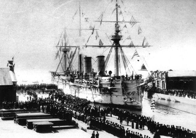 La nave Dmitri Donskoi a Vladivostok 1897