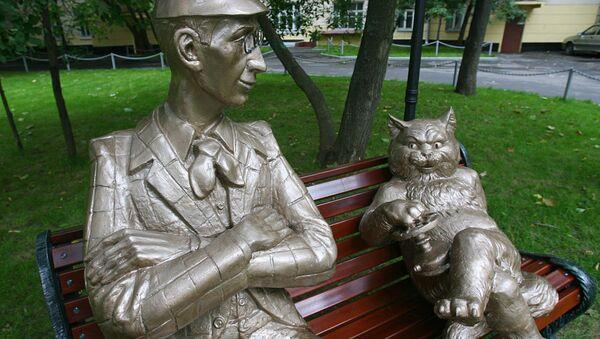 Monumento di Korovyev e del gatto Behemoth, personaggi del romanzo Maestro e Margherita di Bulgakov - Sputnik Italia