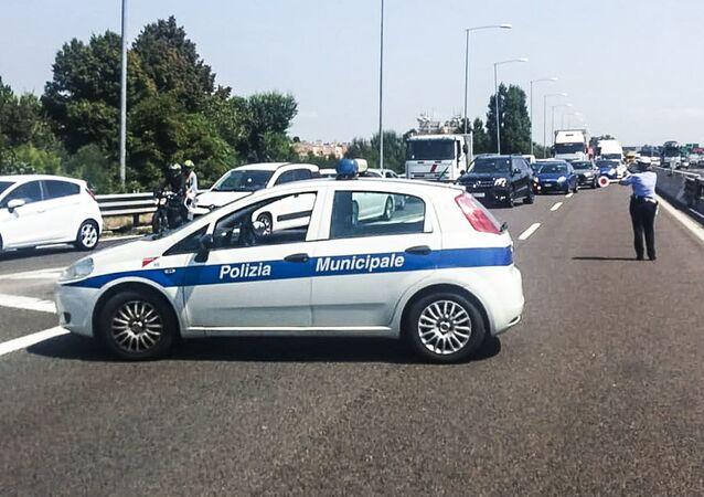 Circolaziona bloccata a Bologna, dopo l'esplosione, il 6 augosto 2018