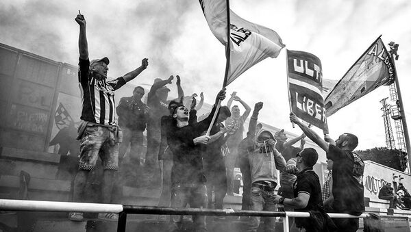 Gli ultras dell'Albenga allo stadio - Sputnik Italia