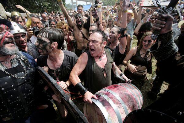Festival dei vichinghi a Catoira, Spagna. - Sputnik Italia