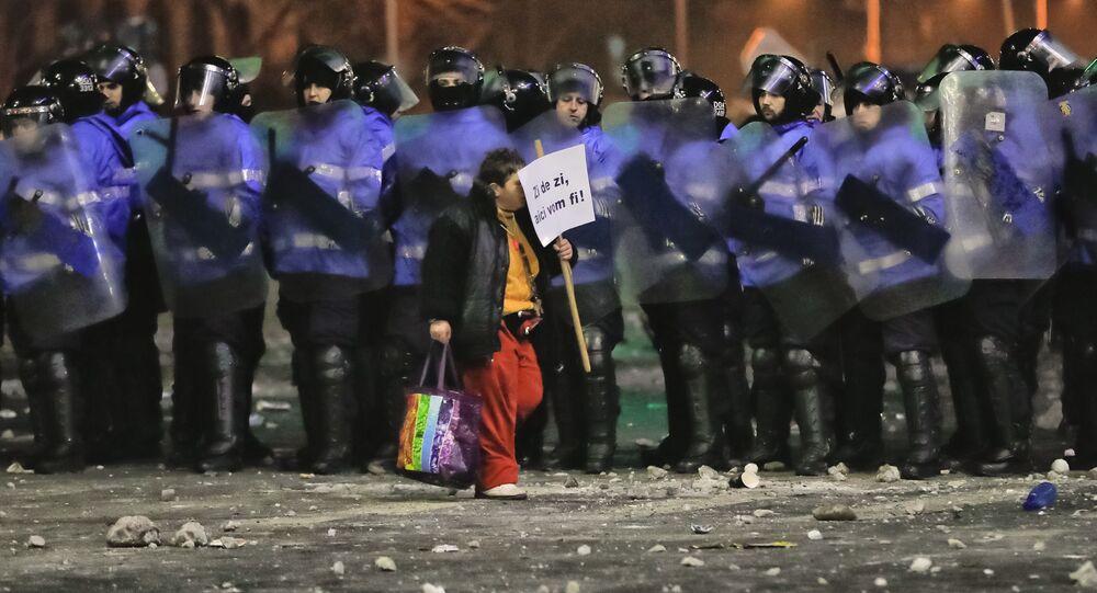 Proteste a Bucarest, Romania