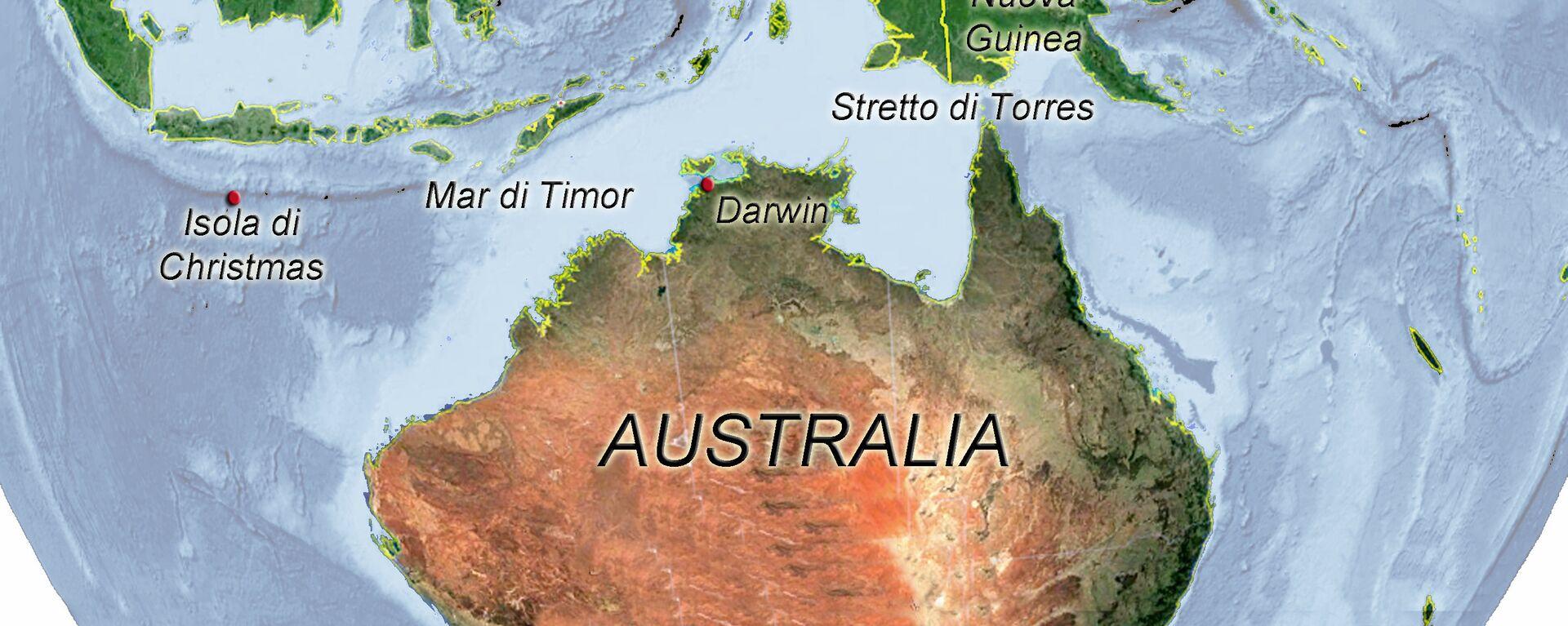 Australia, mappa immigrazione clandestina - Sputnik Italia, 1920, 14.08.2018