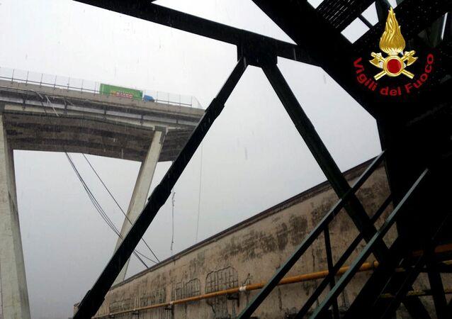 Il punto del crollo del viadotto Morandi