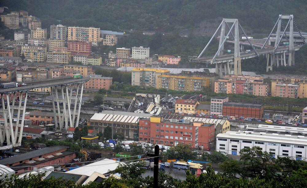 Il crollo del ponte Morandi a Genova