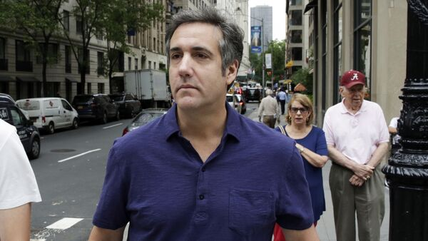 Michael Cohen, formerly a lawyer for President Trump, leaves his hotel Monday, July 30, 2018, in New York. - Sputnik Italia
