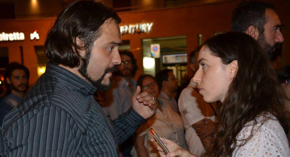 Fabio Massimo Castaldo intervistato da Tatiana Santi