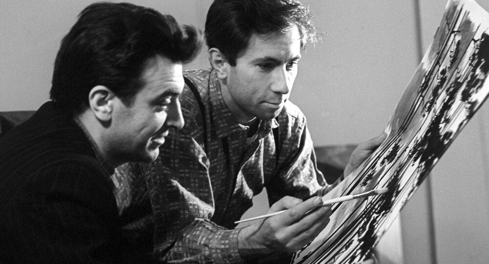 I disegnatori Oleg Savostiuk e Boris Uspensky