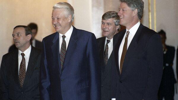Президенты России и США Борис Ельцин и Билл Клинтон - Sputnik Italia