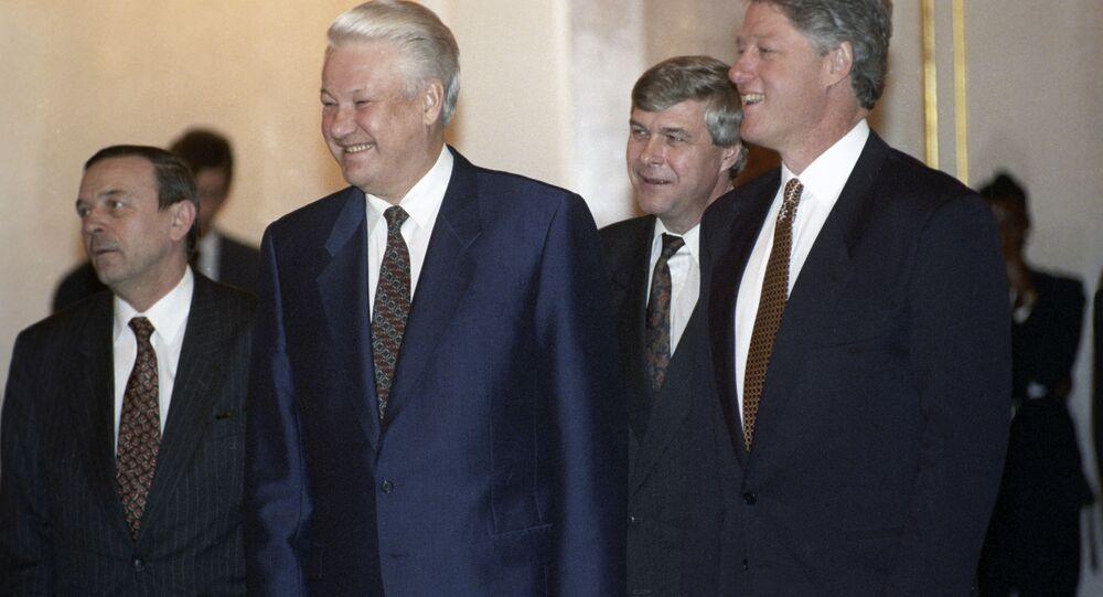 Boris Eltsin e Bill Clinton