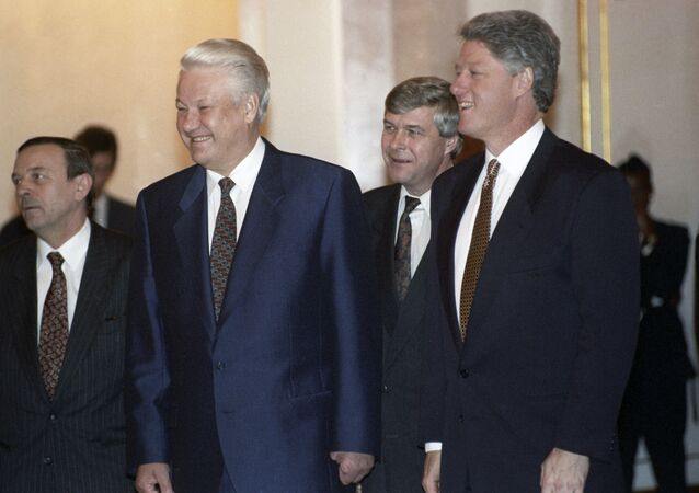 Boris Eltsin e Bill Clinton