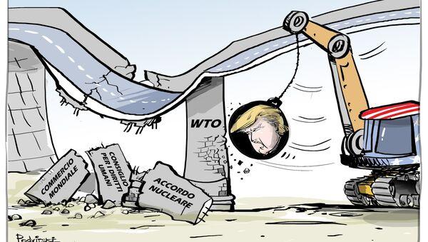 Trump annuncia possibile uscita USA dal WTO - Sputnik Italia