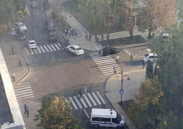 Esplosione nel centro di Donetsk
