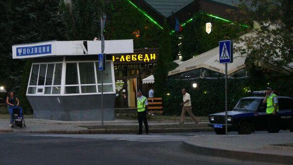 Luogo dell'esplosione in cui è stato ucciso il leader della DNR Alexander Zakharchenko - Sputnik Italia