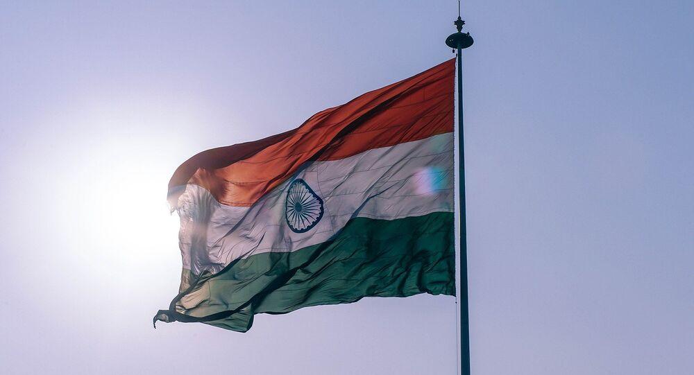 La bandera indiana