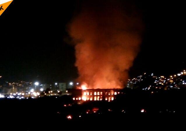 A Rio de Janeiro è andato bruciato il Museo Nazionale del Brasile