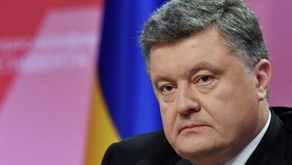 Ukrainian President Petro Poroshenko gives a news conference in Kiev on the year's results - Sputnik Italia