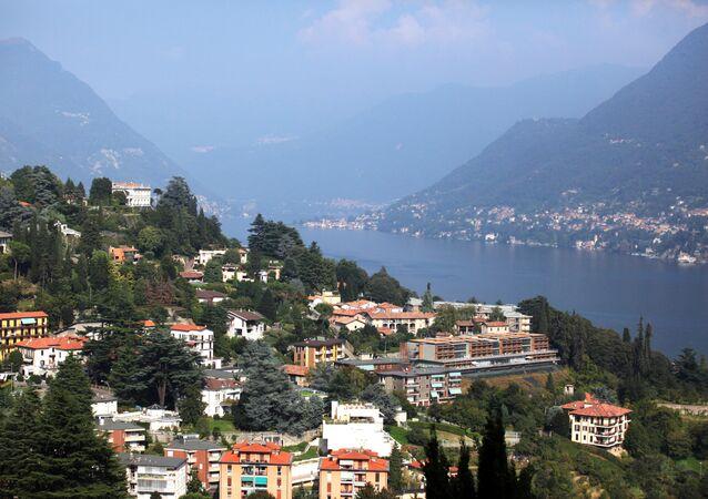 Il panorama sul lago di Como.