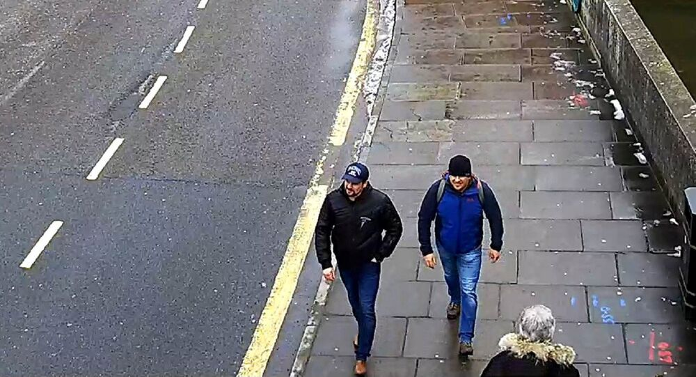 Alexander Petrov and Ruslan Boshirov, who were formally accused of attempting to murder former Russian spy Sergei Skripal and his daughter Yulia in Salisbury, are seen on CCTV on Fisherton Road in Salisbury on March 4, 2018 in an image handed out by the Metropolitan Police in London, Britain September 5, 2018