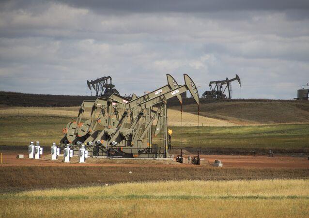 Un giacimento di shale gas a Williston, nello stato del North Dakota