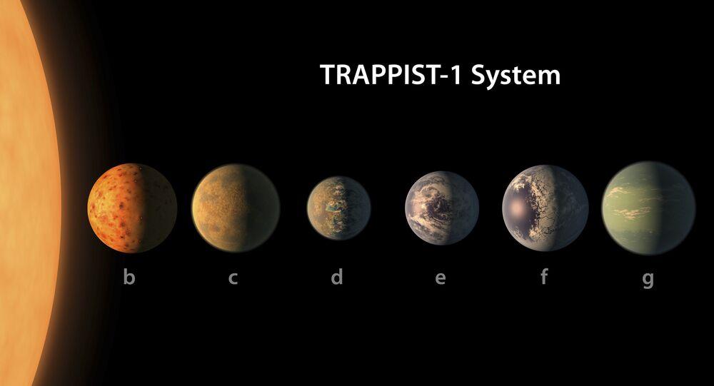 Artista presenta la sua versione del sistema planetario TRAPPIST-1