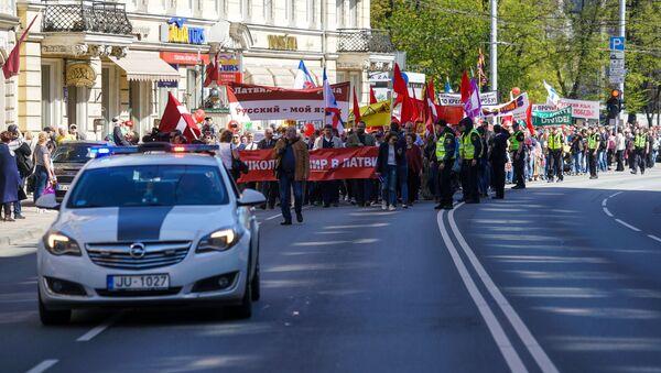 Manifestazione per la difesa della lingua russa in Lettonia - Sputnik Italia