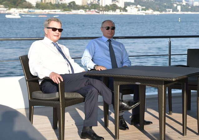 Il presidente finlandese Sauli Niinistö e il presidente russo Vladimir Putin