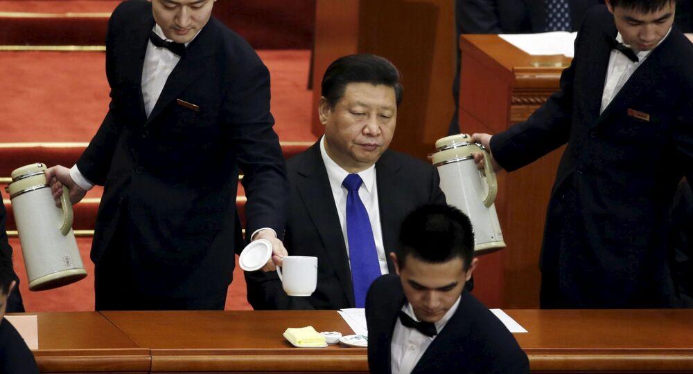 Presidente Xi Jinping all'apertura del Congresso Nazionale del Popolo