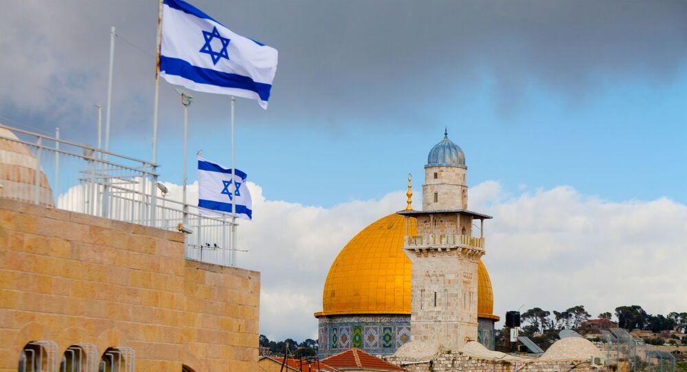 La bandiere israeliane a Gerusalemme
