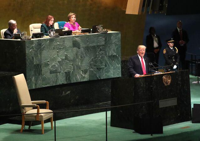 Donald Trump alla 73esima Assemblea generale delle Nazioni Unite