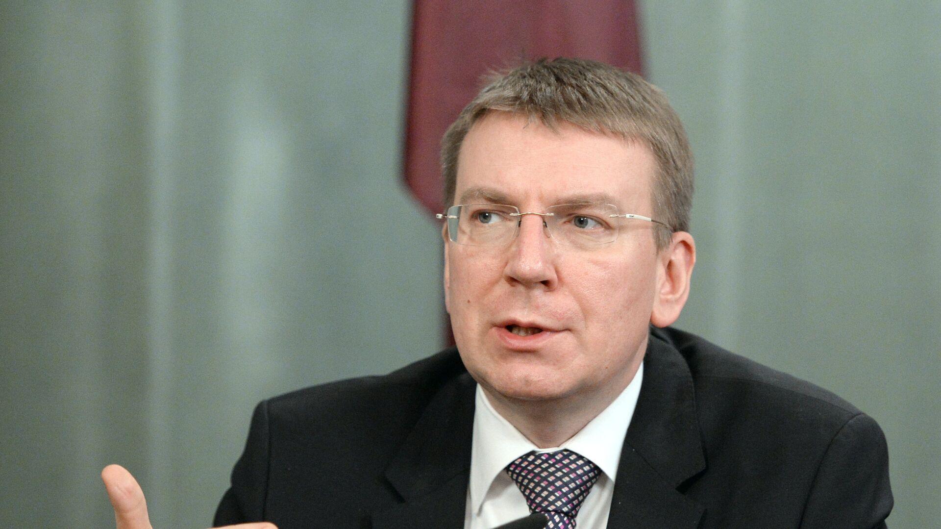 Latvian Foreign Affairs Minister Edgars Rinkevics - Sputnik Italia, 1920, 09.08.2021