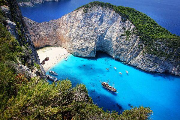 Vista panoramica dell'isola di Zante, Grecia - Sputnik Italia