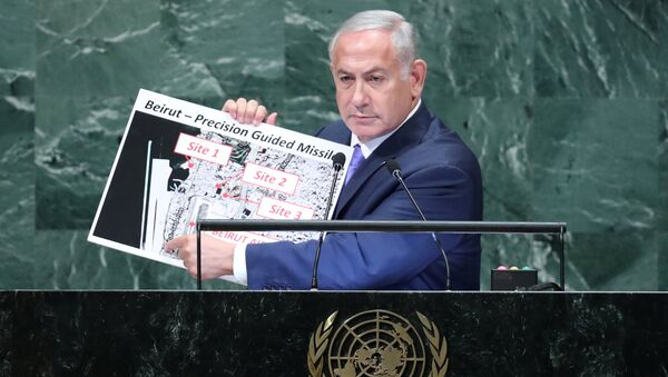 Benjamin Netanyahu, 73esima Assemblea Generale Onu - Sputnik Italia
