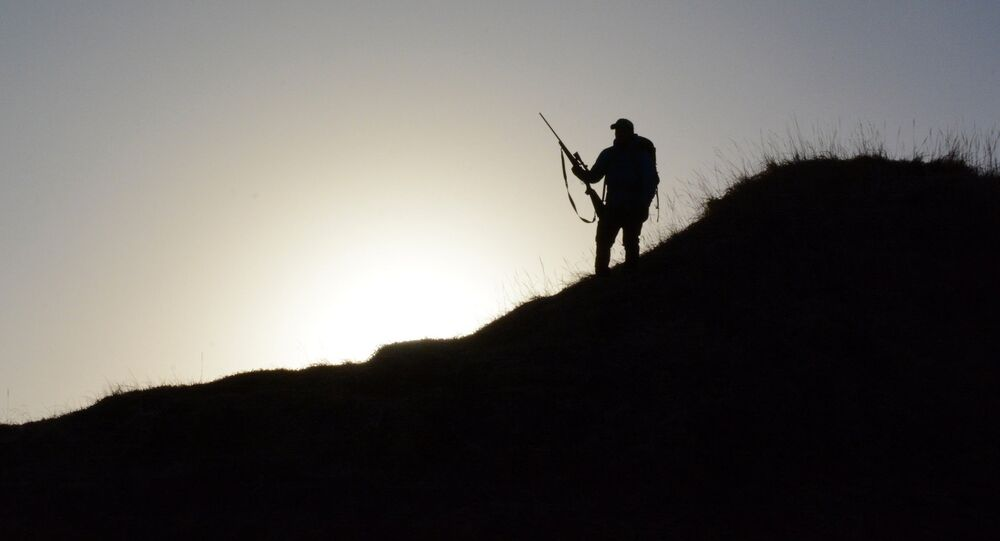 Silhouette of a hunter