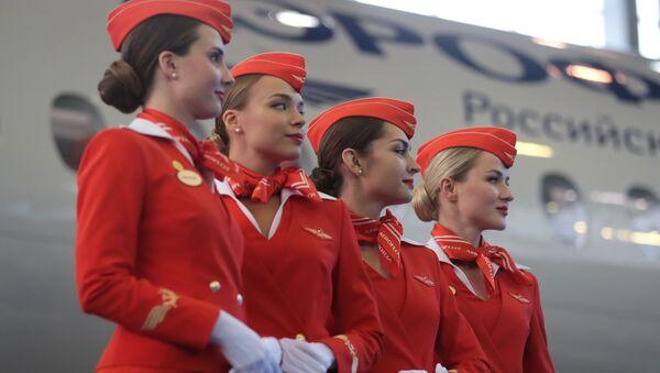 Передача авиакомпании Аэрофлот 50-го самолета Sukhoi Superjet 100  - Sputnik Italia