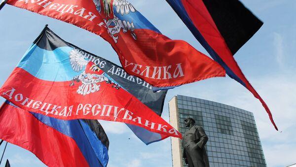 Rally in Donetsk marks anniversary of Donetsk People's Republic - Sputnik Italia