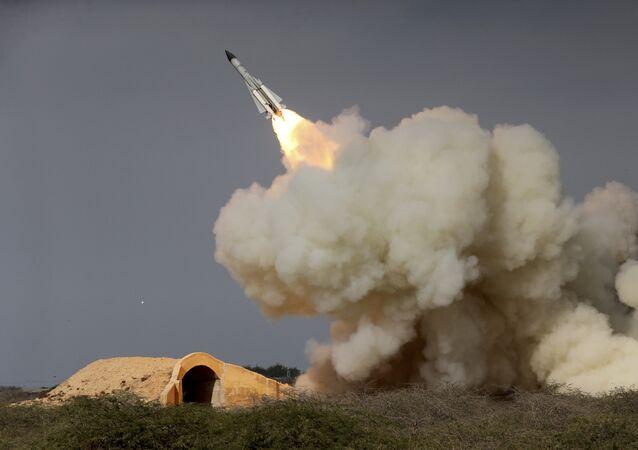 Lancio di un missile in Iran