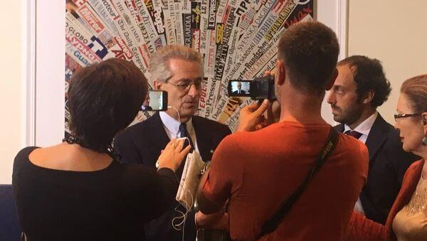 Antonio Zanardi Landi, ex ambasciatore italiano a Mosca, alla presentazione del festival La Roma Russa - Sputnik Italia