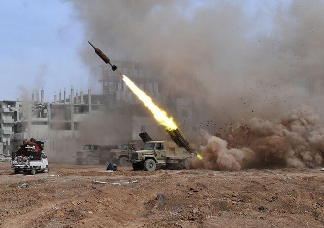 Il lancio dei sistemi Golan 400, Damasco
