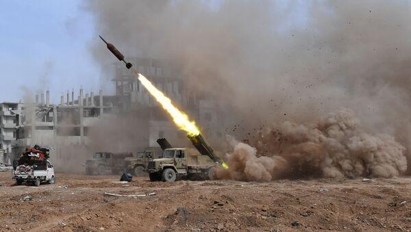 Il lancio dei sistemi Golan 400, Damasco - Sputnik Italia