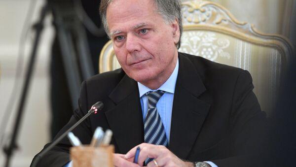 L'incontro tra i ministri degli Esteri italiano e russo, Enzo Moavero Milanesi e Sergei Lavrov - Sputnik Italia